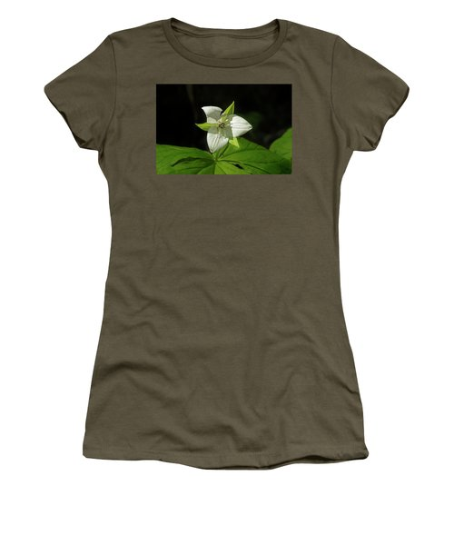 Women's T-Shirt (Junior Cut) featuring the photograph Blooming Trillium by Mike Eingle