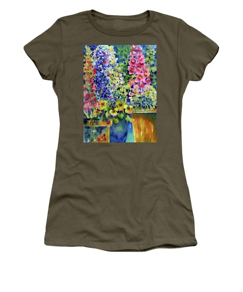 Blooms In Pots Women's T-Shirt