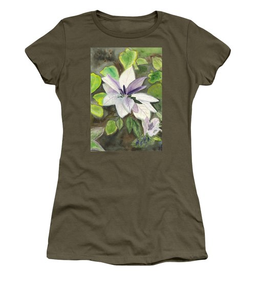Women's T-Shirt (Junior Cut) featuring the painting Blossom At Sundy House by Donna Walsh