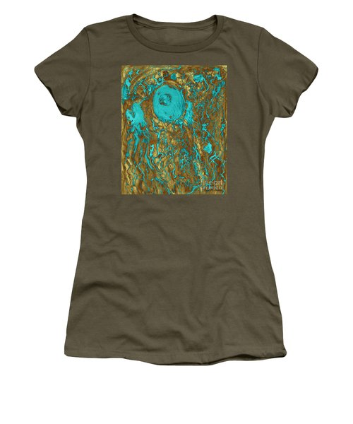 Blue And Gold Abstract Women's T-Shirt