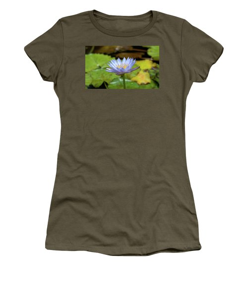 Blue And Yellow Water Lily Women's T-Shirt (Athletic Fit)