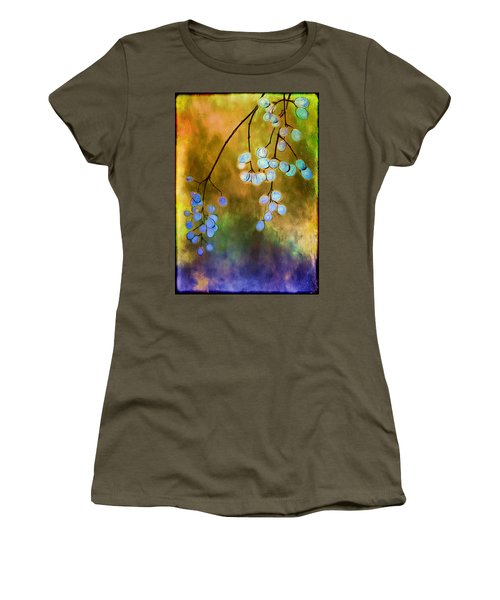 Blue Autumn Berries Women's T-Shirt (Athletic Fit)