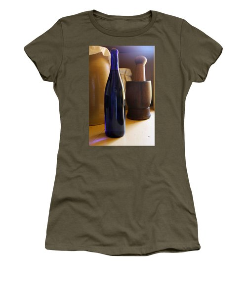 Blue Bottle And Mortar Women's T-Shirt (Athletic Fit)