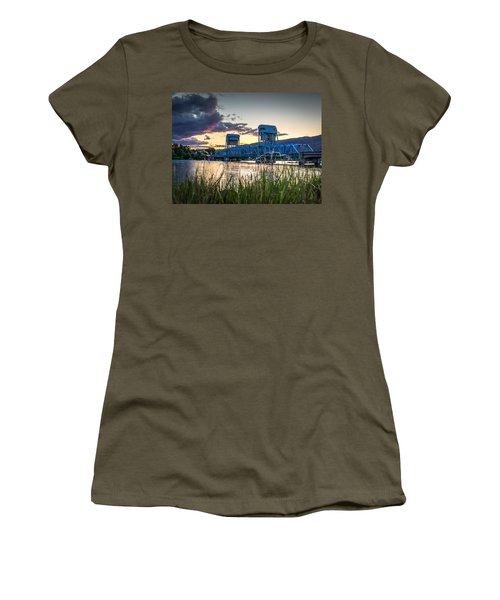 Blue Bridge Through The Grass Women's T-Shirt