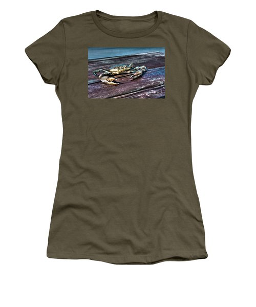 Blue Crab - Above View Women's T-Shirt