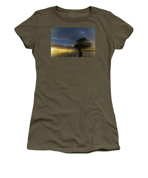 Blue Cypress Lake Nightsky Women's T-Shirt