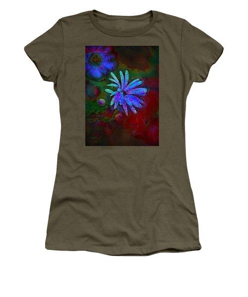 Women's T-Shirt (Junior Cut) featuring the photograph Blue Daisy by Lori Seaman