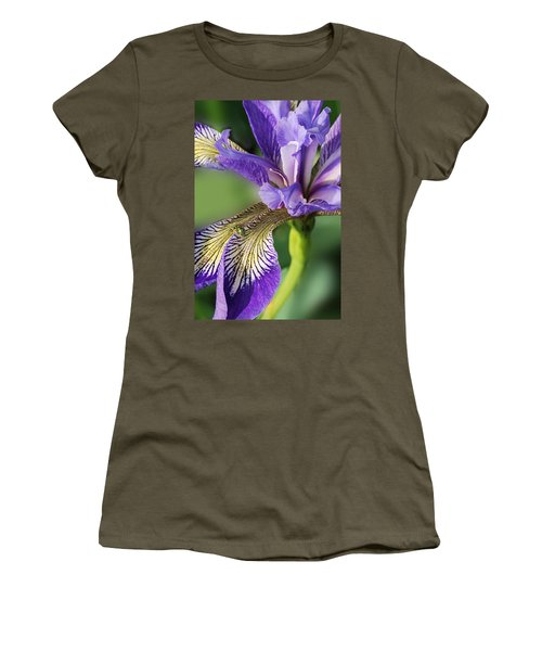 Women's T-Shirt (Junior Cut) featuring the photograph Blue Flag  by Susan Capuano