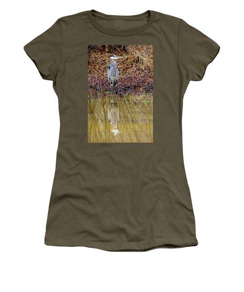 Women's T-Shirt featuring the photograph Blue Heron by Randy Bayne