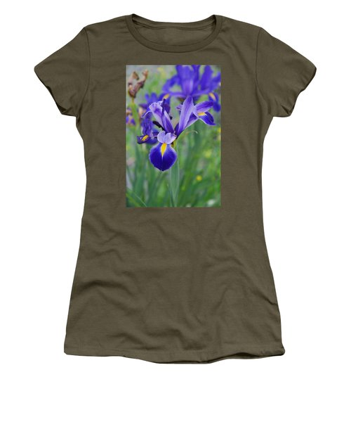 Blue Iris Flower Women's T-Shirt