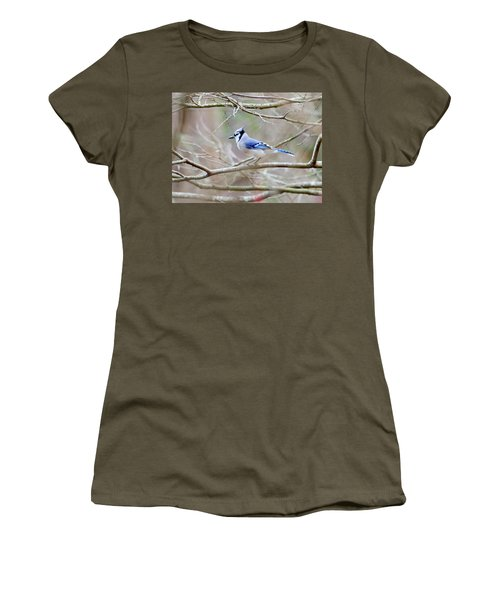Blue Jay Women's T-Shirt (Junior Cut) by George Randy Bass