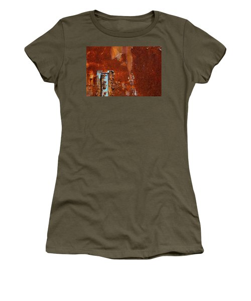 Women's T-Shirt (Junior Cut) featuring the photograph Blue On Rust by Karol Livote