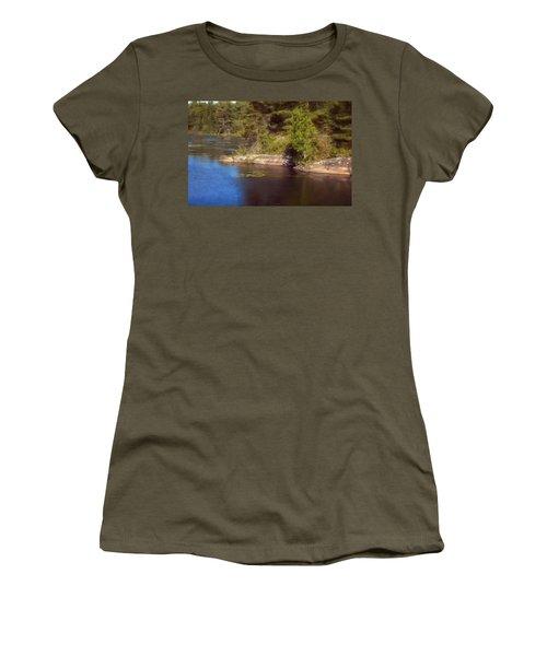 Blue Pond Marsh Women's T-Shirt (Athletic Fit)