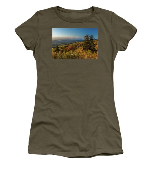 Blue Ridge Mountain Autumn Vista Women's T-Shirt