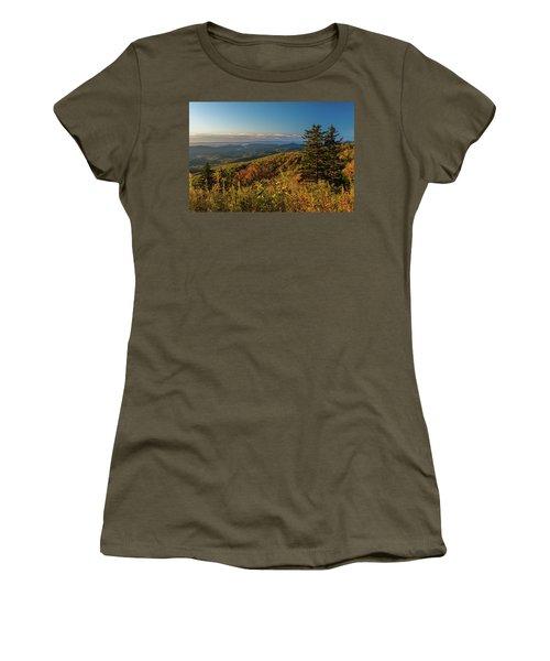 Blue Ridge Mountain Autumn Vista Women's T-Shirt