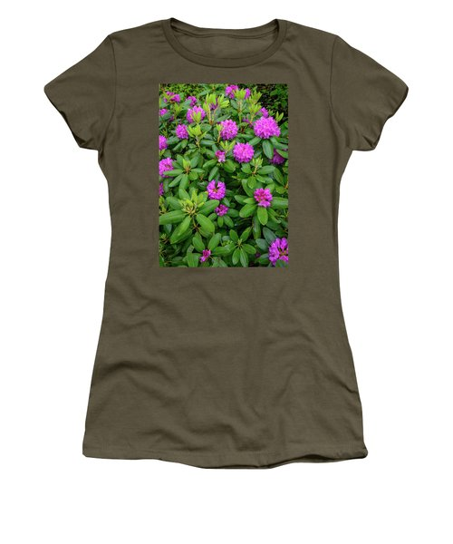 Blue Ridge Mountains Rhododendron Blooming Women's T-Shirt