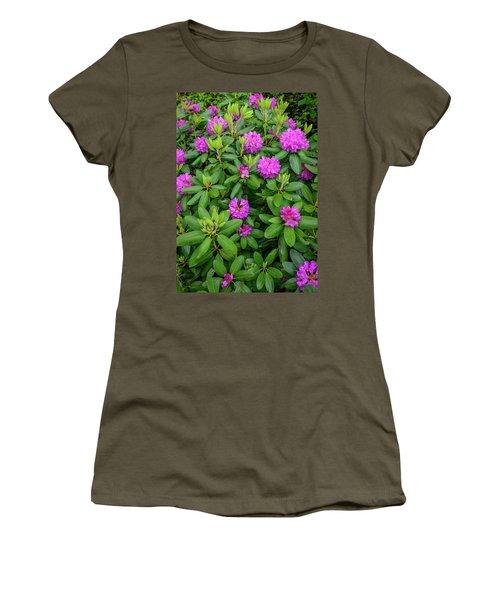 Blue Ridge Mountains Rhododendron Blooming Women's T-Shirt