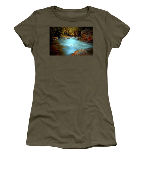 Blue Water And Rusty Rocks Women's T-Shirt