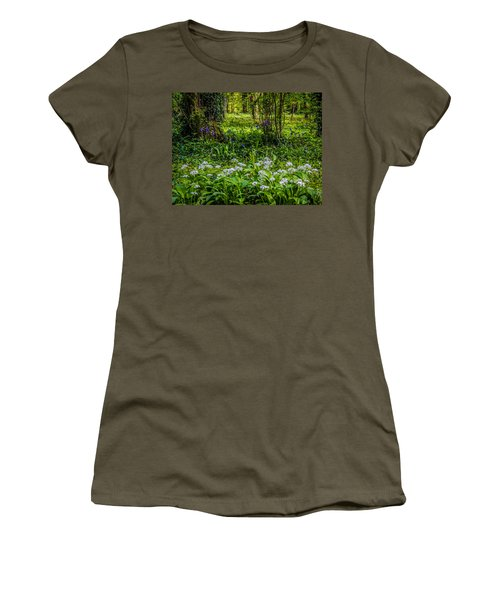 Bluebells And Wild Garlic At Coole Park Women's T-Shirt