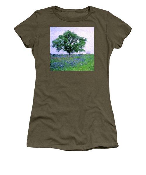 Bluebonnet Tree Women's T-Shirt (Junior Cut)