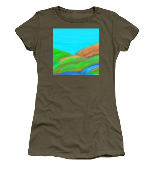 Blues And Browns On Greens Women's T-Shirt
