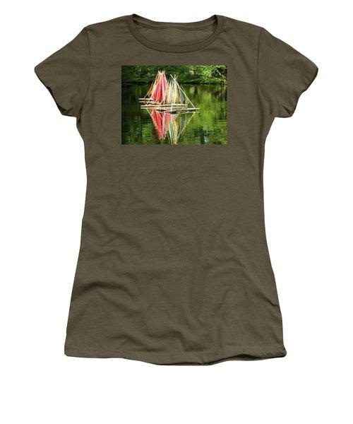 Boats Landscape Women's T-Shirt (Athletic Fit)