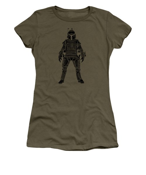 Boba Fett - Star Wars Art, Green Women's T-Shirt