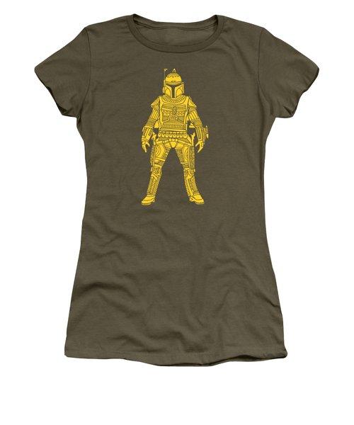 Boba Fett - Star Wars Art, Yellow Women's T-Shirt