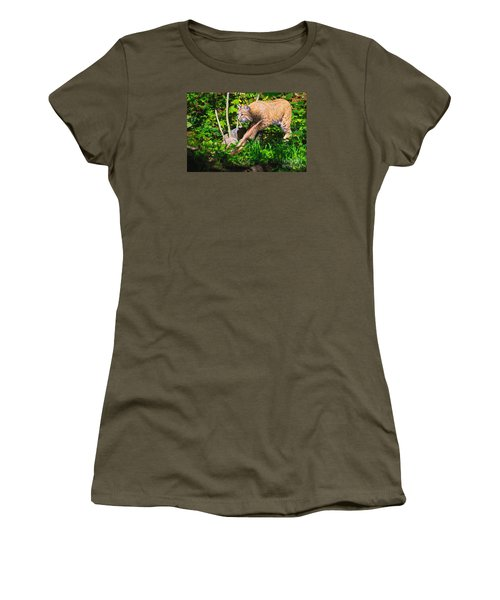 Bobcat At Water's Edge Women's T-Shirt (Athletic Fit)