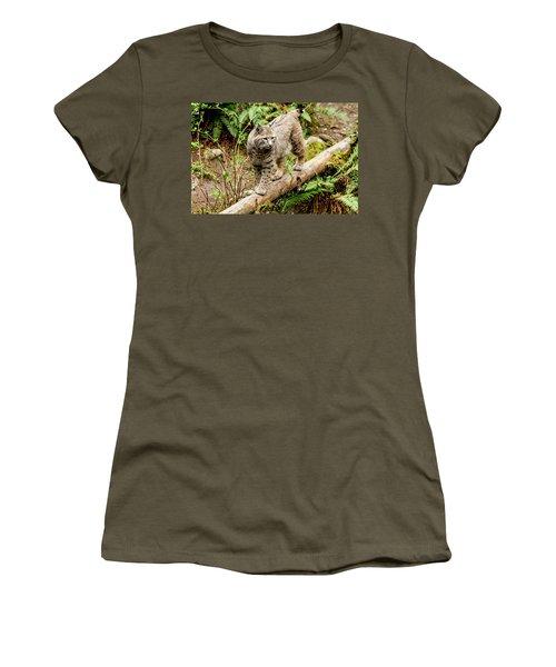 Bobcat In Forest Women's T-Shirt