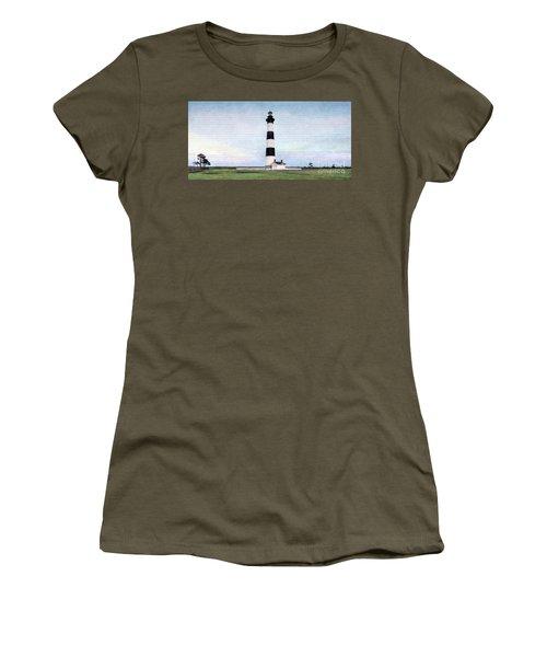 Bodie Island Lighthouse Mural Art Women's T-Shirt (Junior Cut) by Marion Johnson