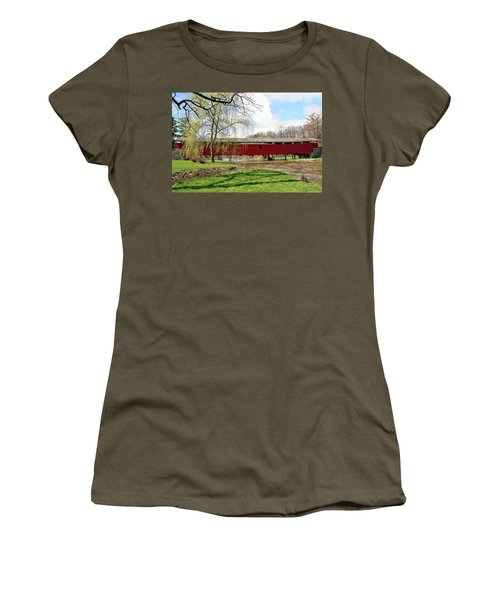 Bogert Covered Bridge Women's T-Shirt (Athletic Fit)