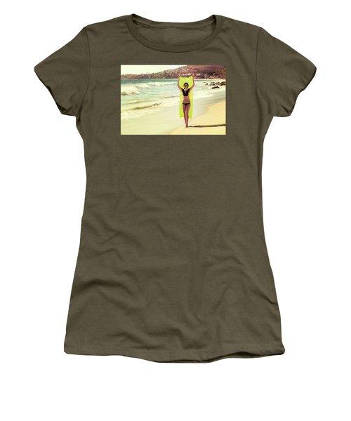 Bond Girl Laguna Beach Women's T-Shirt (Athletic Fit)