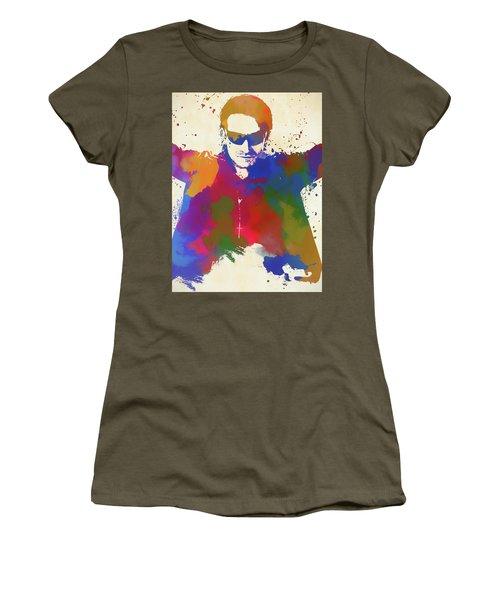 Bono Watercolor Women's T-Shirt (Athletic Fit)