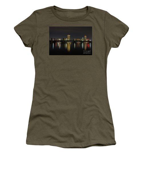 Boston Skyscrappers Behind Bridge Women's T-Shirt