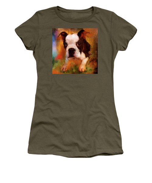 Boston Puppy Women's T-Shirt (Athletic Fit)