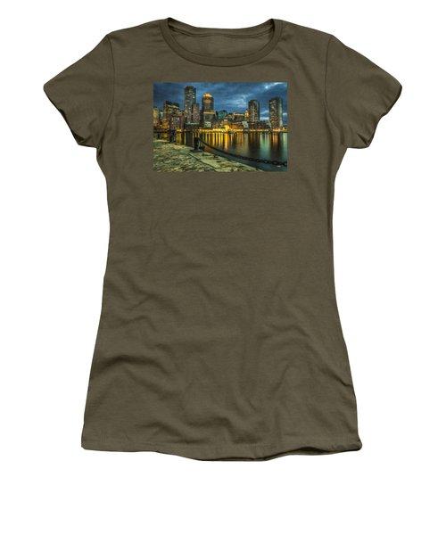 Boston Skyline At Night - Cty828916 Women's T-Shirt