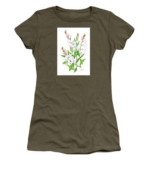 Botanical Illustration Floral Painting Women's T-Shirt
