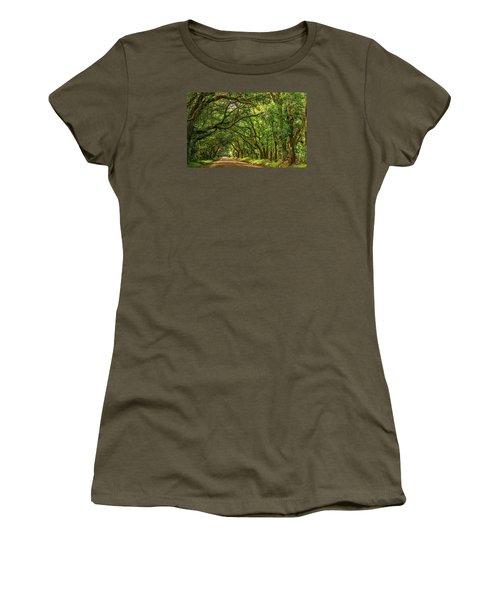 Botany Bay Edisto Island South Carolina Road Light And Shadow Women's T-Shirt