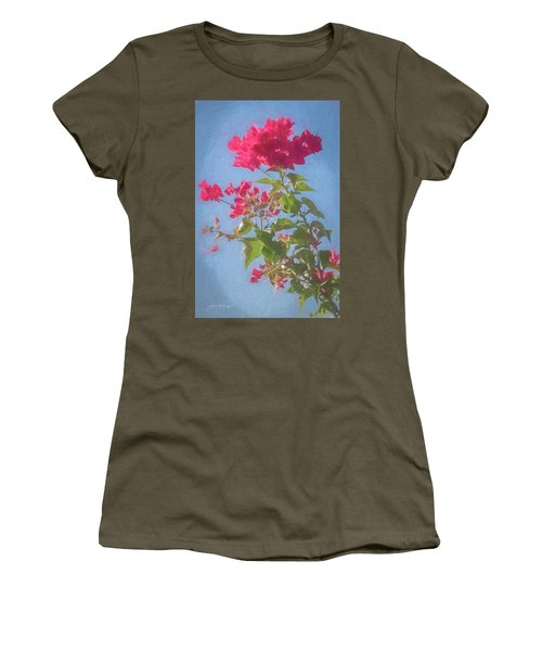 Bougainvillea Morning Women's T-Shirt (Athletic Fit)