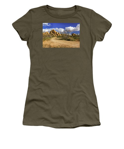 Boulders At Apple Valley Women's T-Shirt (Junior Cut) by James Eddy