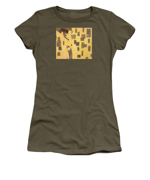 Women's T-Shirt (Athletic Fit) featuring the painting Bound  by Geraldine Gracia