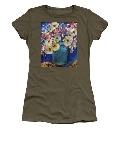 Bouquet Flowers Of Blue  Women's T-Shirt