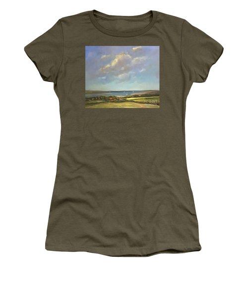 Brancaster Staithes, Norfolk Women's T-Shirt (Junior Cut) by Genevieve Brown