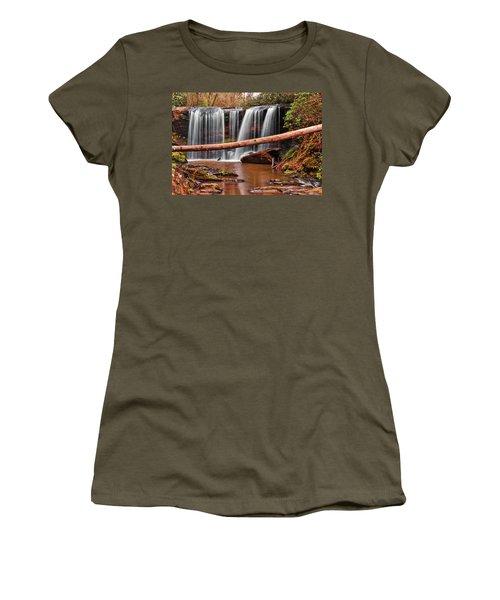 Brasstown Falls 002 Women's T-Shirt (Junior Cut) by George Bostian