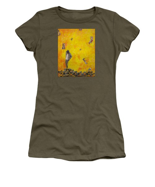 Women's T-Shirt (Athletic Fit) featuring the painting Brazen by Geraldine Gracia