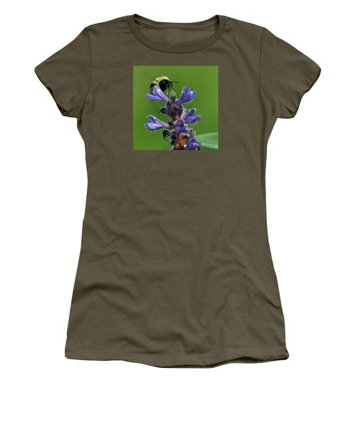 Women's T-Shirt (Junior Cut) featuring the photograph Bumble Bee Breakfast by Glenn Gordon