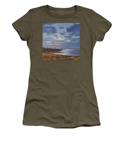 Breaking Up The Clouds Women's T-Shirt (Junior Cut) by Trina Teele