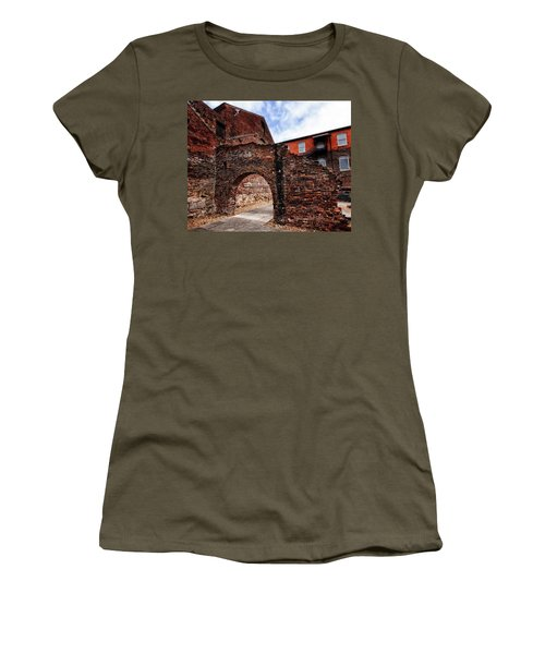 Women's T-Shirt (Athletic Fit) featuring the photograph Brick Arch by Alan Raasch
