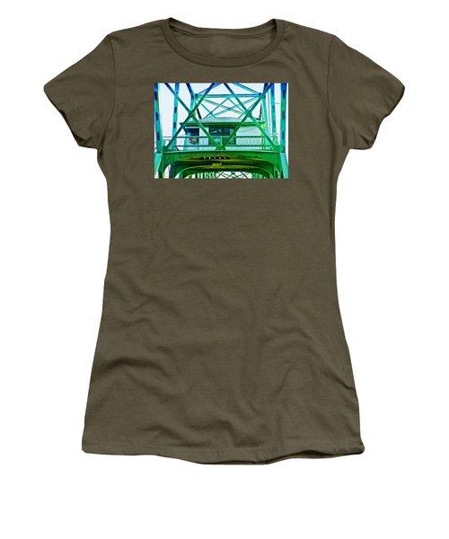 Women's T-Shirt (Junior Cut) featuring the photograph Bridge House by Adria Trail